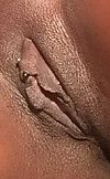 Sweet chocolate vagina ready for a good licking