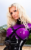 Susan Wayland in Shiny Purple Latex in the Sun
