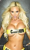 Caution its Coco only wearing just some yellow tape
